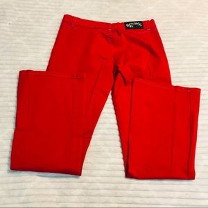 Space Girl Cherry Red Skinny Flare Jeans size 7/8